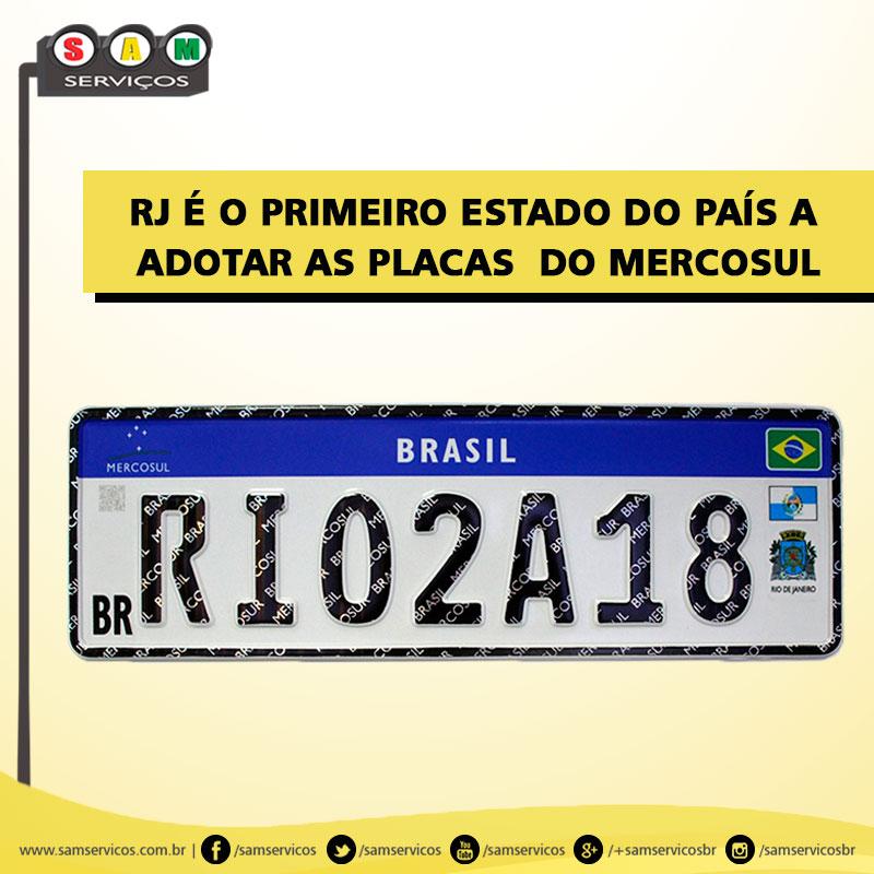 RJ é o primeiro estado do país a adotar as placas do Mercosul RJ