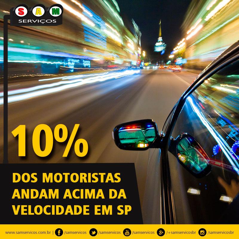 multa acima da velocidade sp